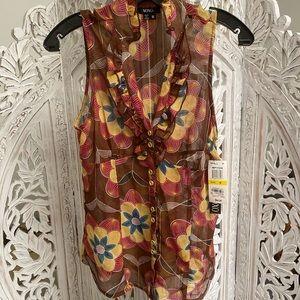 NWT Xoxo sleeveless blouse from Macy's🌻